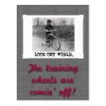 Training Wheels Funny Retro Graduation Postcard