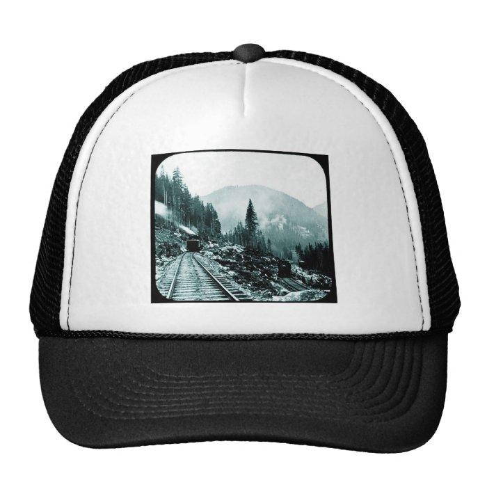 Trains a Comin' and a Goin' Magic Lantern Slide Trucker Hat
