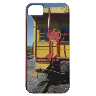 Trains and tracks - traditional rail road car iPhone SE/5/5s case