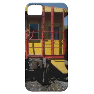 Trains and tracks - wooden rail road car iPhone SE/5/5s case