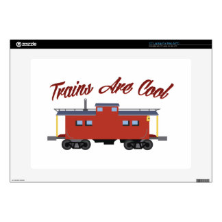 Trains Are Cool Decal For Laptop