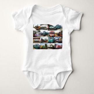 Trains Baby Bodysuit