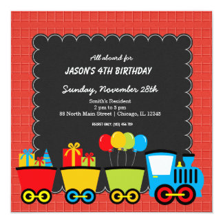 Trains Birthday theme Card