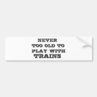 Trains Bumper Sticker