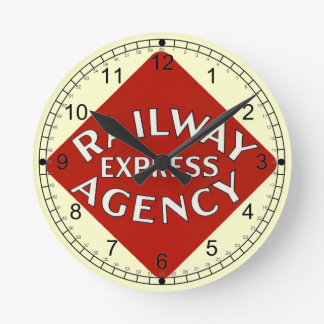 Trains Can Send Your Bags ahead by Railway Express Round Clocks