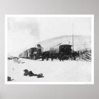 Trains & Dogs Alaska 1916 Poster
