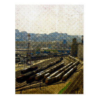 Trains for the Ninth Floor, A View of Kansas City Postcard