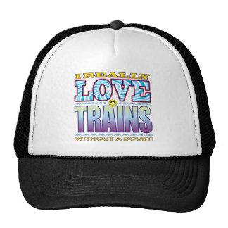 Trains Love Face Trucker Hat