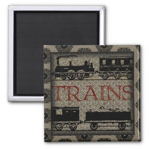 TRAINS Magnet Fridge Magnets