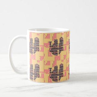 Trains Mixed Media Orange,Yellow Mug