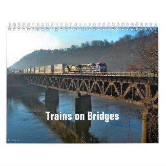 Trains on Bridges Calendar