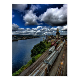 Trains on the Willamette Postcard