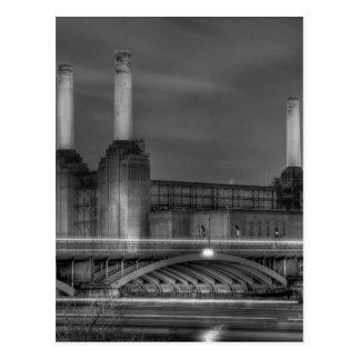 Trains pass Battersea Power Station, London Postcard