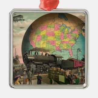 Trains, Planes & Everything Else Metal Ornament