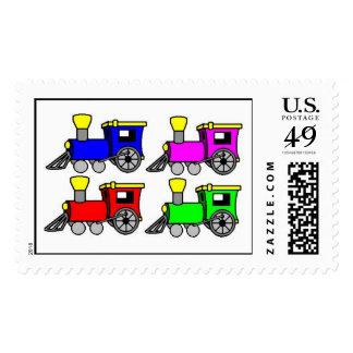 trains postage