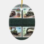 Trains, railways, locomotives 2 christmas ornament