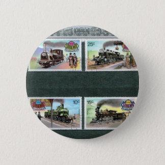 Trains, railways, locomotives 2 pinback button