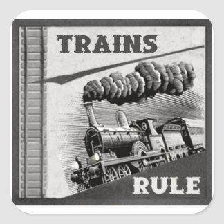 Trains Rule Stickers