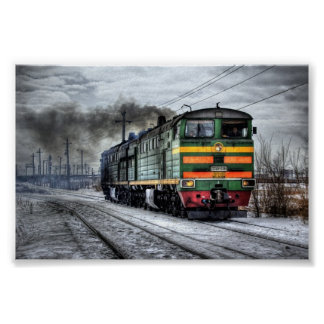 Trains Russian Diesel Engine Poster