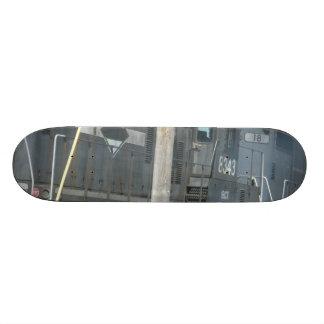 trains skateboard deck