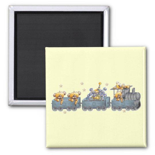 Trains & Teddy Bears Magnet
