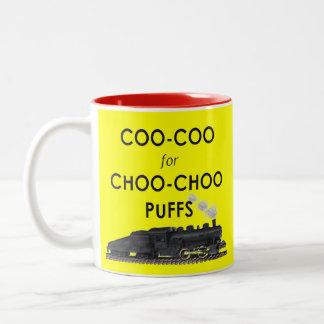 Trains Two-Tone Coffee Mug