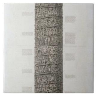 Trajan's Column (engraving) Ceramic Tile