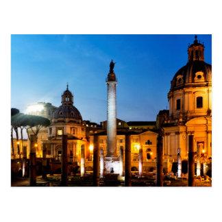 Trajan's column postcard