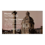 Trajan's Pillar, Rome, Italy classic Photochrom Business Cards