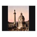 Trajan's Pillar, Rome, Italy classic Photochrom Postcard