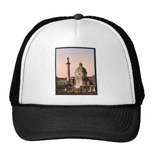 Trajan's Pillar, Rome, Italy classic Photochrom Trucker Hat