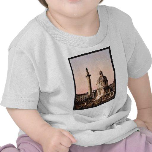 Trajan's Pillar, Rome, Italy classic Photochrom Tee Shirts