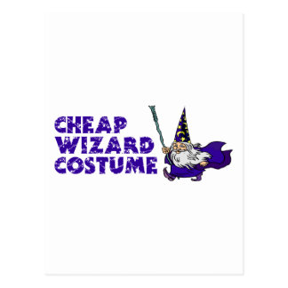 Traje barato del mago postales