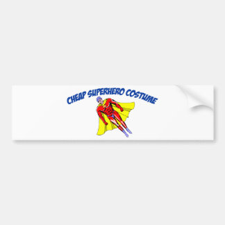Traje barato del super héroe etiqueta de parachoque