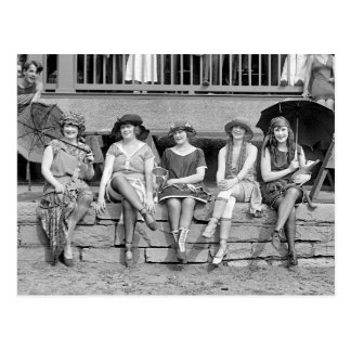 Traje Contest, 1921 de la playa Tarjeta Postal