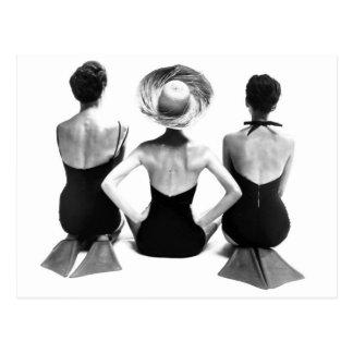 Traje de baño 1950 de la moda