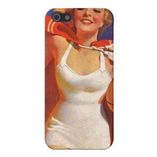 traje de baño retro elegante galón de la playa del iPhone 5 fundas