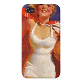 traje de baño retro elegante galón de la playa del iPhone 4/4S fundas