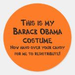 Traje de Barack Obama Pegatina Redonda