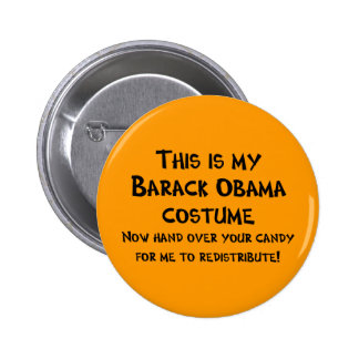 Traje de Barack Obama Pin Redondo 5 Cm