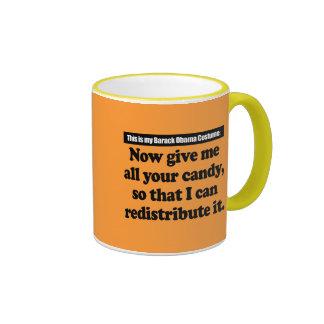 Traje de Barack Obama Tazas De Café
