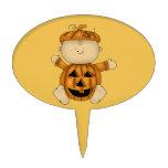 Traje de Halloween de la calabaza en bebé Figuras Para Tartas