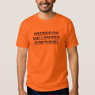 Traje de Halloween de la recesión Remeras