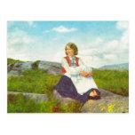 Traje de Hardanger, imagen del vintage de Noruega, Tarjeta Postal