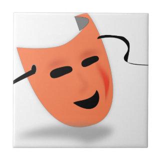 Traje de la máscara de Halloween Azulejo Cuadrado Pequeño