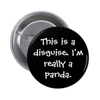 Traje de la panda pin redondo 5 cm