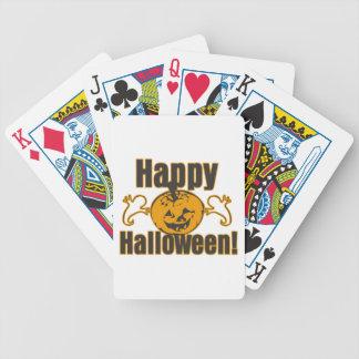 Traje de los fantasmas de la calabaza del feliz baraja de cartas