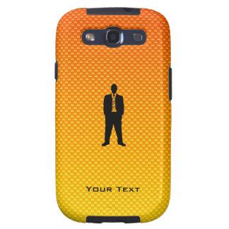 Traje de negocios amarillo-naranja galaxy s3 protectores