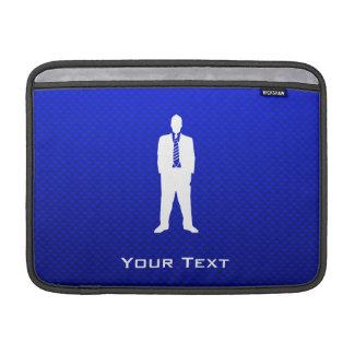 Traje de negocios azul funda macbook air