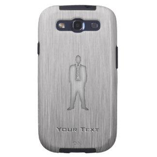 Traje de negocios cepillado de la Metal-mirada Samsung Galaxy S3 Fundas